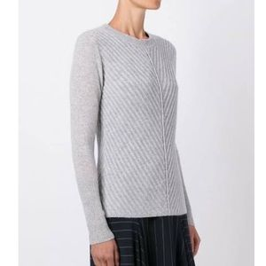 Le Kasha Cashmere Light Grey Pull Over Sweater